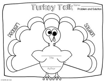 Turkey Talk Graphic Organizers