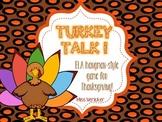 Turkey Talk! Hangman style ELA game for Thanksgiving