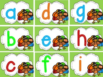 Turkey Talk JUMBO pack (30+ K-1 Common Core Centers)