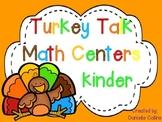 Turkey Talk Kinder Math Centers (12 CCSS Centers)