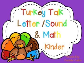 Turkey Talk Kinder Math & Literacy Pack (21 CCSS Different