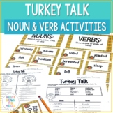 Nouns and Verbs (Thanksgiving Center Activity)