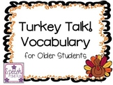 Turkey Talk Older Grades Vocabulary