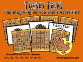 Turkey Talk! Thanksgiving Articulation Activities