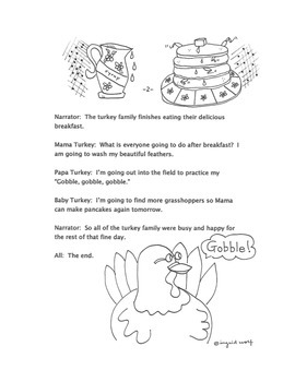 Turkey Talk -Thanksgiving Clipart and  A Reader's Theatre Play -