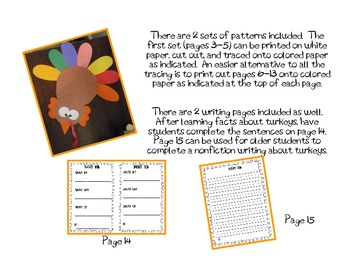 Turkey Talk Thanksgiving Craftivity