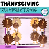 Turkey Talk Wh- Question Ask and Answer - Thanksgiving