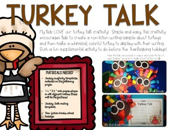 Turkey Talk Writing Craftivity