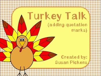 Turkey Talk (adding quotation marks)