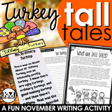 Thanksgiving Writing Activity: Turkey Tall Tales
