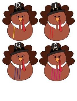 Turkey Tallies Math Center Thanksgiving FREEBIE
