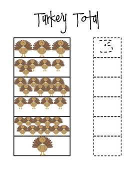 Turkey Tally, Thanksgiving Number Recognition and Math Centres- FREEBIE