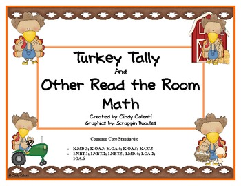"Turkey Tally and 7 More ""Read the Room"" Math Games"
