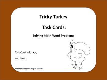 Turkey Math Task Cards