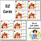 Turkey Task Cards ● Clip Cards ● Letter Recognition ● Uppercase ● Lowercase