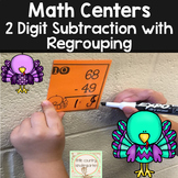 2 Digit Subtraction With Regrouping: Turkey Task Cards
