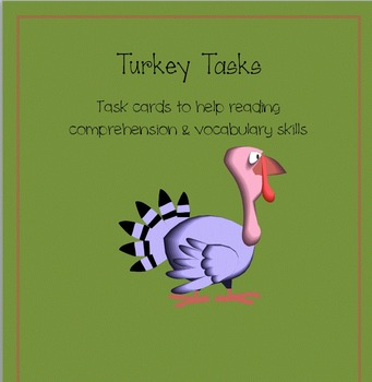 Turkey Tasks: Printables for Literacy Building Skills in a Common Core way