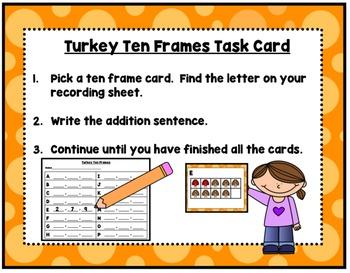 Turkey Tasks Literacy & Math Centers