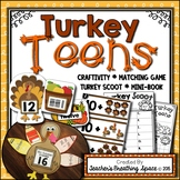 Turkey Teens --- Thanksgiving Turkey Teen Numbers 11-19