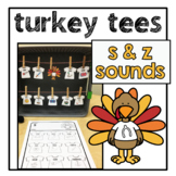 Turkey Tees | s & z | Articulation Games | Speech Therapy