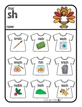 Turkey Tees | sh, ch, and j sounds | Articulation Games | Speech Therapy