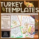 Turkey Templates-Autumn & Thanksgiving