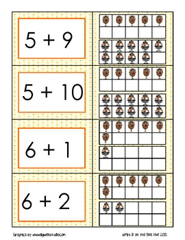 Turkey Ten Frame Addition Sentences from 6 to 20