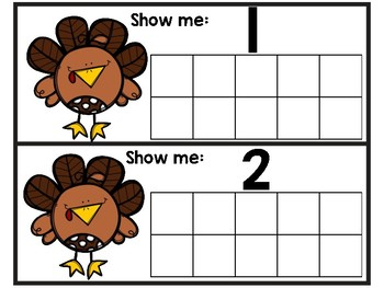 Turkey Ten Frame Cards