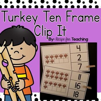 Turkey Ten Frame Clip It