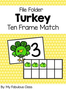Turkey Ten Frame File Folder