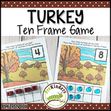Turkey Ten Frame Game | Pre-K + K Math