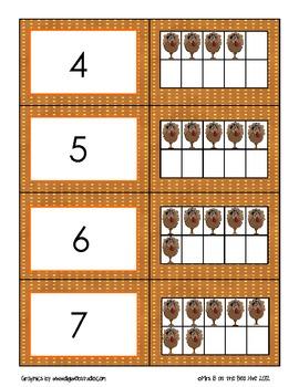 Turkey Ten Frame Matching for 0-20