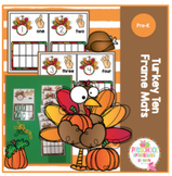 Turkey Ten Frame Mats for Centers