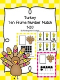 Turkey Ten Frame Number Match 1-20