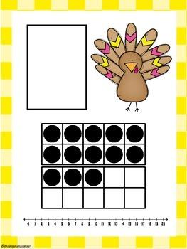 Turkey Ten Frame Number Match 1-20