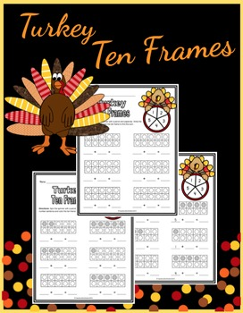 Turkey Ten Frame - Spin & Add