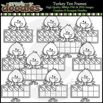 Turkey Ten Frames