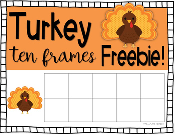 Turkey Ten Frames FREEBIE!