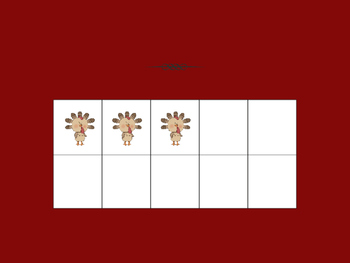 Turkey Ten Frames PP Practice or Review