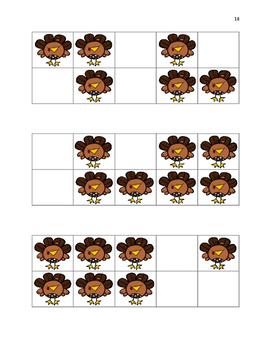 November Turkey Ten Frames & Workmat