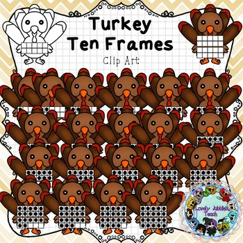 Freebie Friday 38: Turkey Ten and Twenty Frame Clip Art