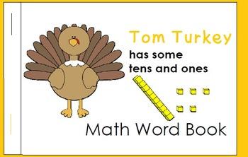 Thanksgiving Tens- base ten blocks and ten frame matching games