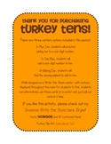 Turkey Tens - A Thanksgiving Write-the-Room Math Center