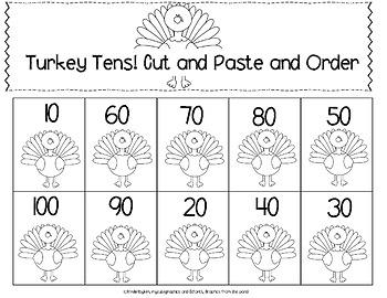 Kinderbykim's Free Turkey Tens  Hats and Tally Fun!