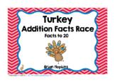 Turkey Thanksgiving Addition Facts