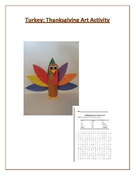 Turkey: Thanksgiving Art Activity