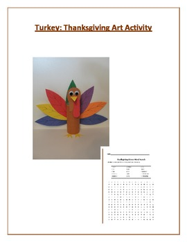 Turkey: Thanksgiving Art Activity