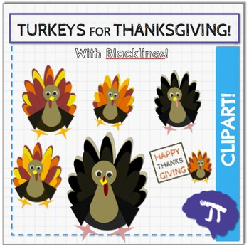 Turkey Thanksgiving Clipart Bundle