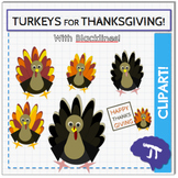Turkey Thanksgiving Clipart Bundle