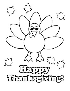 Turkey Thanksgiving Coloring Pages EASY FUN CUTE 5 pages ...
